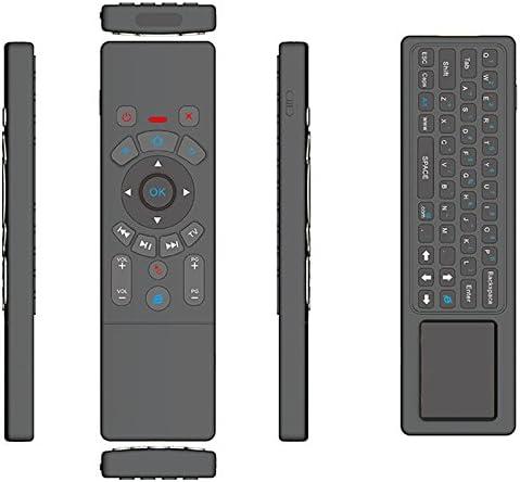 QICHENGBIN Télécommande sans Fil pour Mini Clavier T6 Air Mouse 2.4GHz Clavier sans Fil avec télécommande IR for l'apprentissage Touchpad TV PC/Box Android/Smart TV