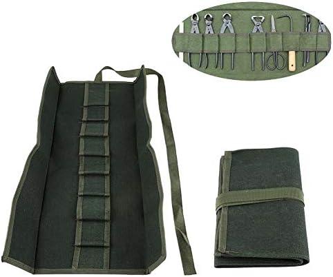 ガーデンツールバッグ 盆栽ツールポケットバッグ 多機能ツールロールバッグ 多機能キャンバス 電気バッグ 道具袋 工具バッグ 工具入れ
