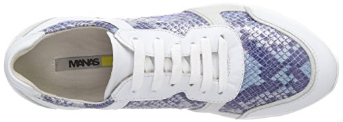 MANAS LIGNANO Damen Sneakers Mehrfarbig (BIANCO+BIANCO+BLU+BIANCO)