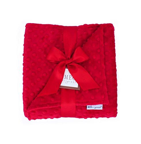 Red Minky Dot Baby Blanket, MEG Original, 328