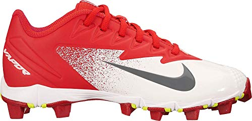 Nike Boy's Vapor Ultrafly Keystone (GS) Baseball Cleat University Red/Bright Crimson/White Size 6 M US