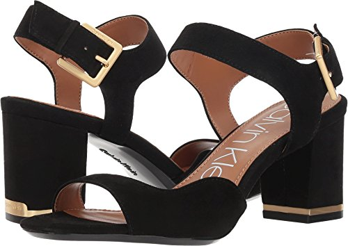 Calvin Klein Women's Chantay Heeled Sandal, Black, 8.5 Medium US by Calvin Klein