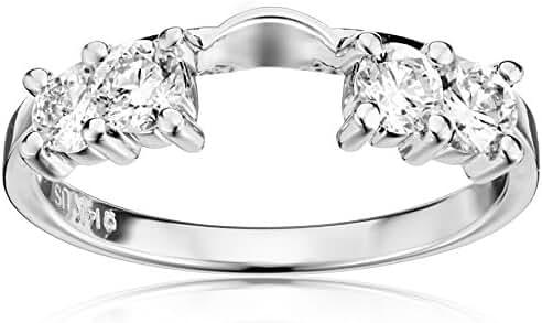 14k White Gold Diamond Solitaire Engagement Ring Enhancer (5/8 carat, H-I Color, I1-I2 Clarity)