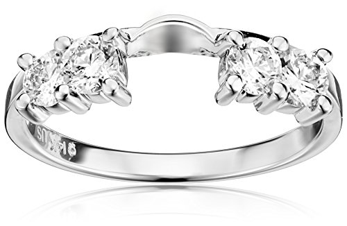 14k White Gold Round Diamond Solitaire Engagement Ring Enhancer (5/8 carat, H-I Color, I1-I2 Clarity), Size 7 by Amazon Collection