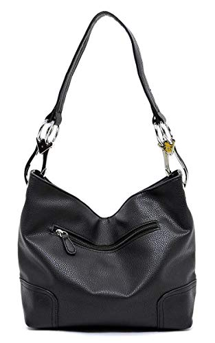 Elphis black Handbag O Shoulder Purse Hobo Fashion Bucket Bag Classic r1zWrqHwgO