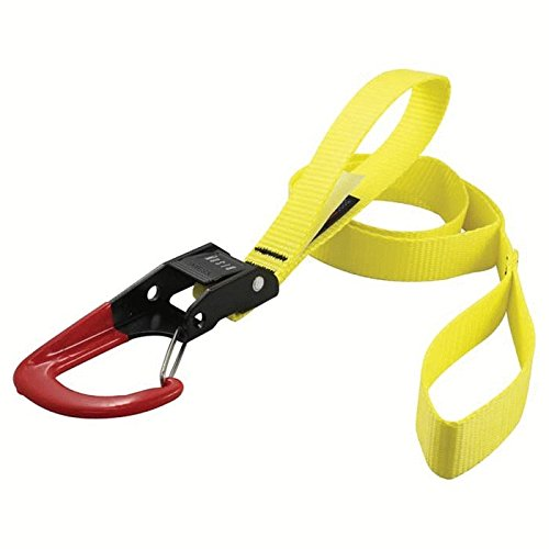 Bison Designs HOOKm S Heavy Duty USA Made Tie Down with Black Buckle (Orange, 8-Feet) by Bison