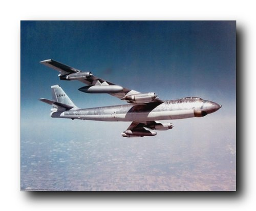 Boeing B-47 Stratojet Bomber US Air Force Vintage Airplane Art Print Poster (16x20) ()