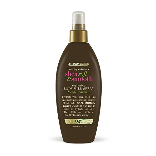 OGX Hydrating Moisture + Shea Soft & Smooth Softening Body Milk Spray, 6.8 Ounce