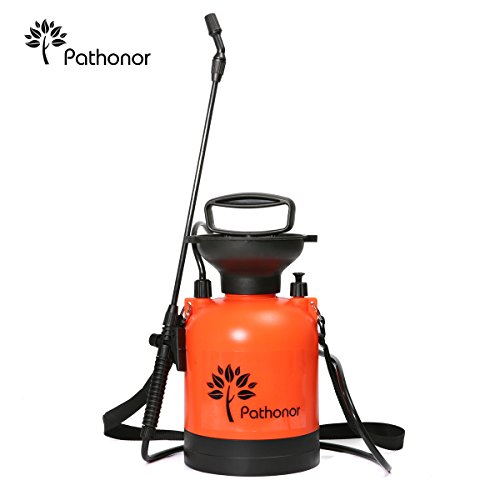 PATHONOR Super Garden Sprayer, 3L/0.8Gal Pressure Sprayer weed Sprayer with 22 inch Wand and 51 inch hose for...