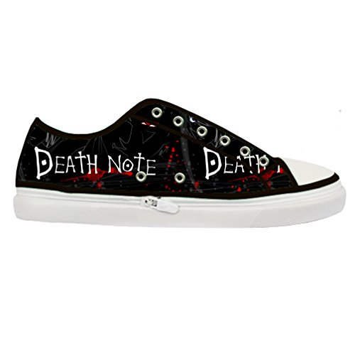 JIUDUIDODO Death Note Men's Canvas Sneakers Low-top Lace-Up Canvas Shoes