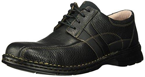 Clarks Men's ESPACE Shoe, black oily leather, 085 M -