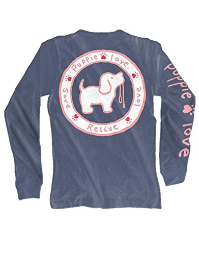 Puppie Love Logo Pup Adult Long Sleeve T-Shirt-Large by Puppie Love