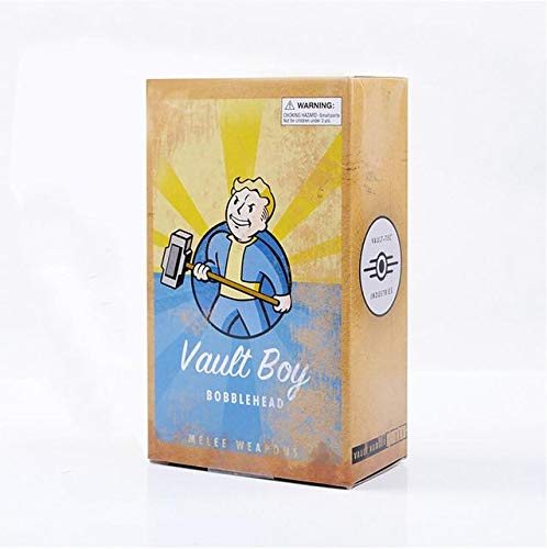 Cholyme LLC Gaming Heads Fallout 4 Vault Boy Toy Bobbleheads Series 1 Animal Action Figure Collectible Model Toys brinquedos Dolls - Melee Weapons Box - Code A2079 (Best Melee Weapon Fallout 4)