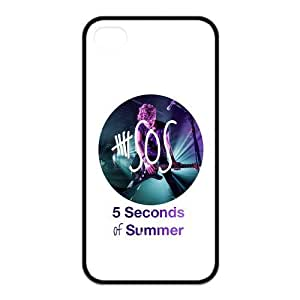 the Case Shop- Customizable 5SOS iPhone 4 and iPhone 4S TPU Rubber Hard Back Case Cover Skin , i4xq-153