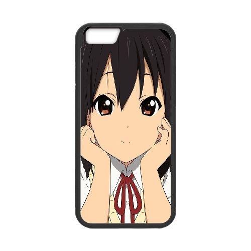 Azusa Nakano K Onblack coque iPhone 6 Plus 5.5 Inch Housse téléphone Noir de couverture de cas coque EBDOBCKCO11260