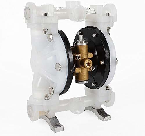 Double Diaphragm Pump, QBY-15PP Air-Operated Diaphragm Pump 1/2 Inch Inlet and Outlet Double Diaphragm Air Pump