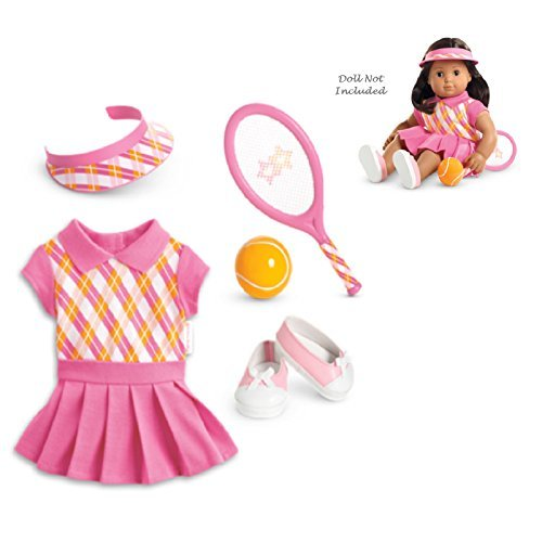 """American Girl Bitty Twins Tennis Pro Outfit for 15"""" Dolls (Doll Not Included)"""