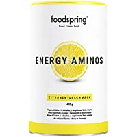 foodspring Energy Aminos, 400g, Lemon, Clean Pre-Workout Booster with Plant-based BCAAs Without Chemicals. Certified Production Made in Germany