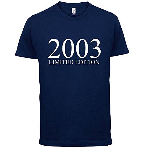 2003 Limierte Auflage / Limited Edition - 14. Geburtstag - Herren T-Shirt - Navy - XXL