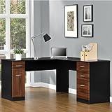 Amazon Com Cherry Wood Corner Computer Desk This Laptop