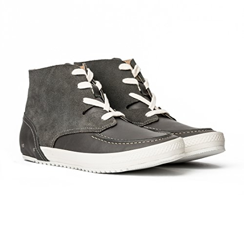 MCNDO Soho Chaussures Homme Urbaines de Cuir (11, Gris)