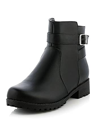 XZZ  Womens Shoes Fashion Boots Low Heel Round Toe Ankle Boots Dress