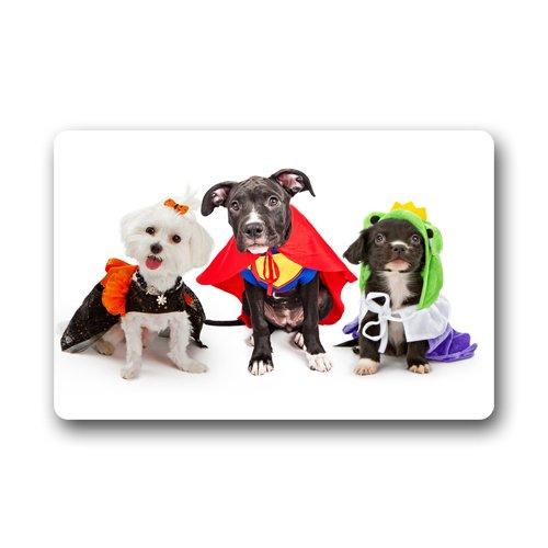 Halloween Dog Costumes Custom Doormat Rectangular Front Door Outdoor Indoor Entrance Mat Design Doormats With Your Favorite (Casa Decorata Per Halloween)