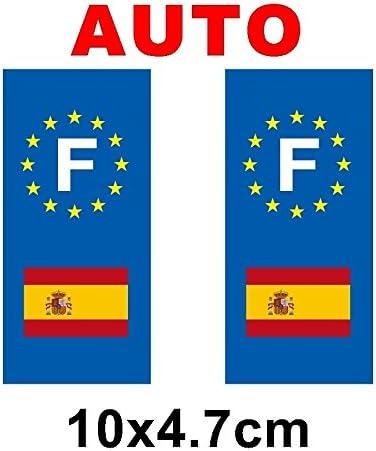 Pegatina para placa de matrícula, diseño de la bandera de España: Amazon.es: Hogar