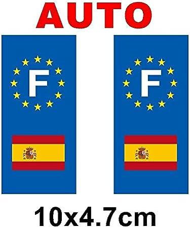 Adhesivo decorativo, diseño de placa de matrícula con bandera de ...