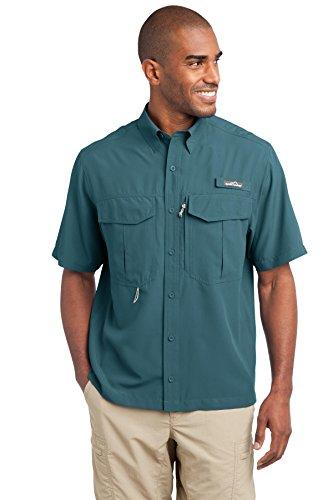 Eddie Bauer - Short Sleeve Performance Fishing Shirt, Gulf Teal, XXX-Large Eddie Bauer Short Sleeve Shirt