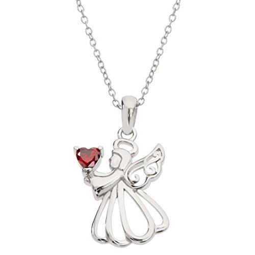 Hallmark Jewelry Women's Birthstone Sterling Silver