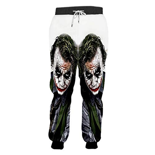 HY-Autuens Joggers Pants Men's Funny Anime 3D Print Suicide Squad Sweatpants Joker Clown Sweat Pants Suicide Squad Joker ()