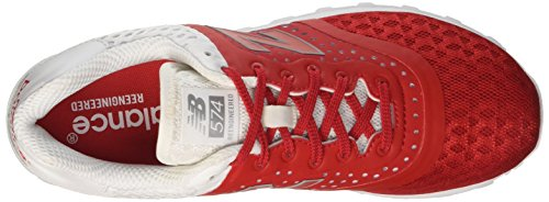 Bleu Homme Balance Chaussures Rouge New Rosso de Gymnastique Textile Lifestyle Uppqv