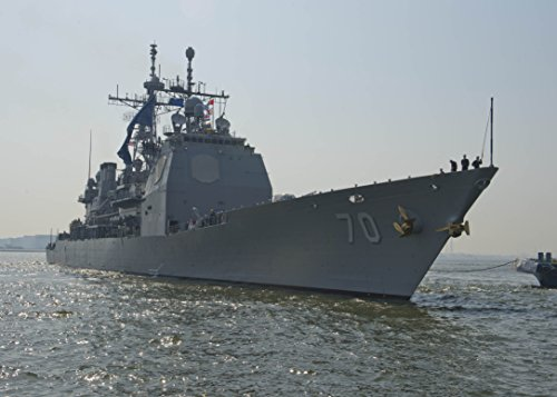 - LAMINATED POSTER The Ticonderoga-class guided-missile cruiser USS Lake Erie (CG 70) pulls into Osaka for a port visit