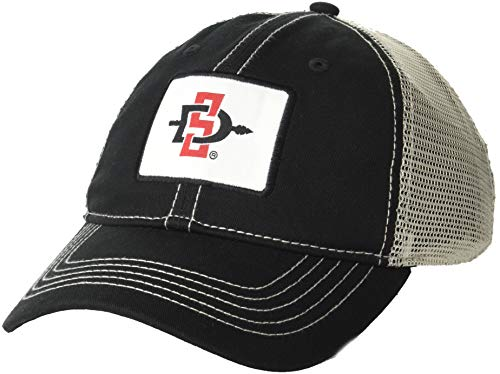 Ouray Sportswear NCAA San Diego State Aztecs Men's Campus Legend Headwear, Black/Natural, Adjustable