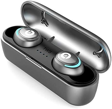 ハンズフリーステレオヘッドセット、400 Mah充電ビン付きの真のワイヤレスBluetooth 5.0、マイクIphoneバージョンAndroid zz付きスポーツイヤフォン,B
