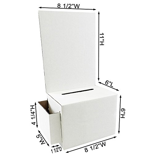 Display Products Affordable (Cardboard Ballot Box with White Removable Header (Carton of 10))