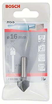Bosch 2608596371 Fraise à noyer conique HSS queue cylindrique cinq taillants 90° Ø 12 mm Bosch Professional