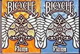 Bicycle 2 Deck Orange and Blue Pluma Playing Cards w/ Calculator by US Playing Card Company