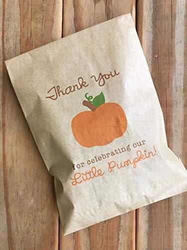 Little Pumpkin Fall Baby Shower Birthday Kraft Favor ()