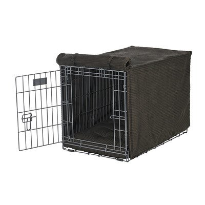 Bowsers Luxury Crate Cover, XX-Large, Coffee