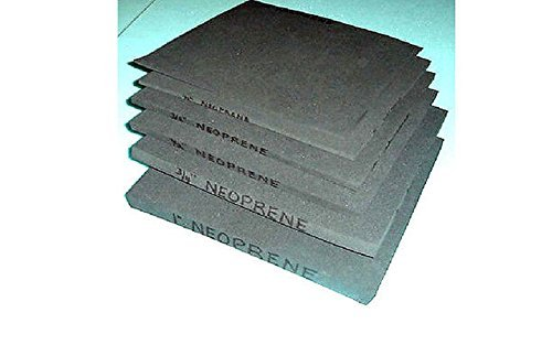 Rubber Neoprene Insulation Sheets Closed Cell Foam Plumbing, Gaskets DIY Material, Supports, Leveling, Sealing, Bumpers, Protection, Abrasion, Flooring 42