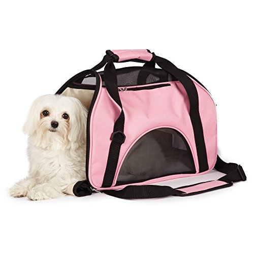 East Side Collection On-the-Go Pet Carriers — Practical and Fashionable Carriers for Small Dogs and Cats, Pink (Carrier Side East Collection Pet)