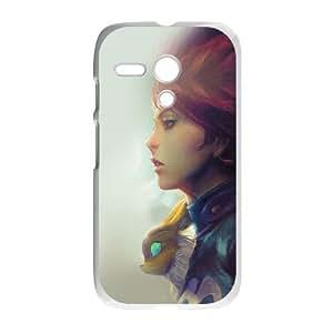 Motorola G Cell Phone Case White am98 girl illust anime art paint fly red hair LSO7979157
