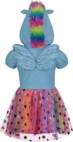 My Little Pony Rainbow Dash Toddler Girls' Costume Dress with Hood and Wings, Blue (5T) by My Little Pony (Image #1)