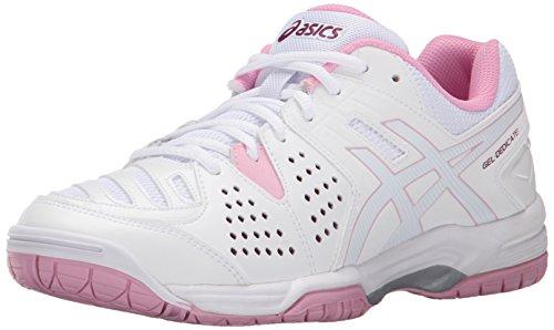 ASICS Women's Gel-Dedicate 4-W, White/Cotton Candy/Plum, 6 M US (Asics Mens Gel Resolution 4 Tennis Shoe)