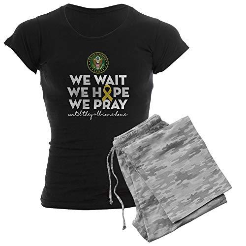 CafePress Army We Wait Hope Pray Womens Novelty Cotton Pajama Set, Comfortable PJ Sleepwear