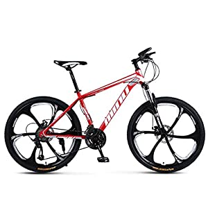 41zthlr4YyL. SS300 MUYU Mountain Bike per Adulti 26 Pollici Telaio in Acciaio al Carbonio Bici da Strada 21 velocità (24 velocità, 27 velocità, 30 velocità) Unisex Bici da Strada Estive Viaggi All'aperto