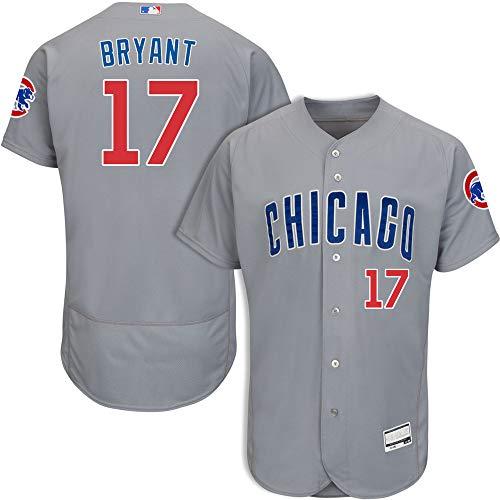 VF LSG Men's #17 Kris Bryant Chicago Cubs Road Flex Base Jersey L Gray