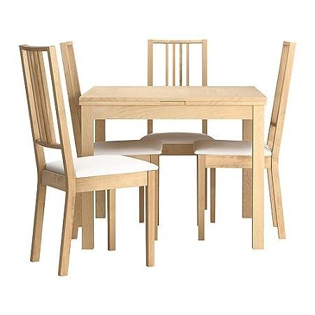 Ikea Tavoli E Sedie Per Cucina.Ikea Tavolo E 4 Sedie Betulla Impiallacciato Gobo White